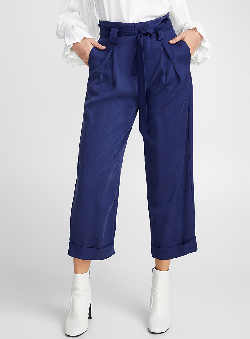 Lyocell paper-bag pant - Pants