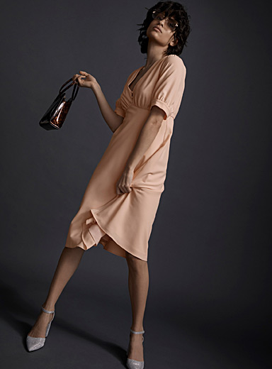 Icône Pink Retro fit-and-flare dress for women