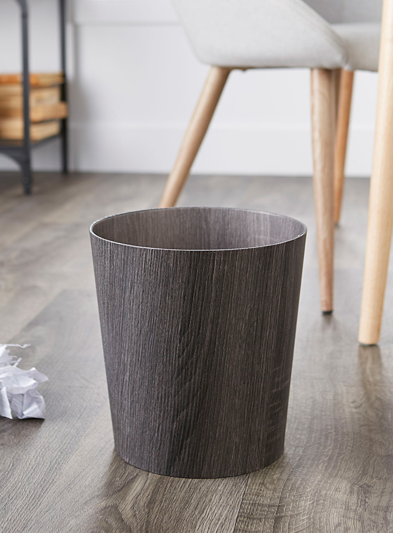Simons Maison Assorted Faux-wood wastebasket