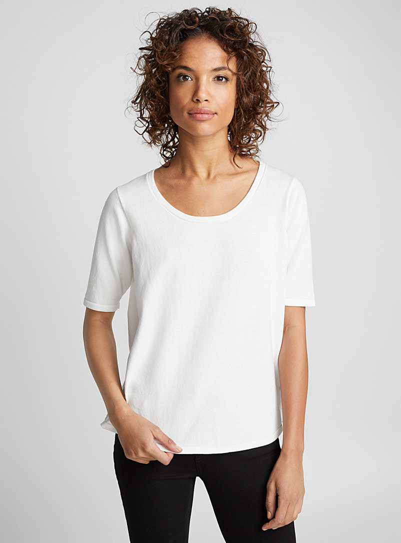 Le pull manches courtes MS5 - Elisa C-Rossow - Blanc