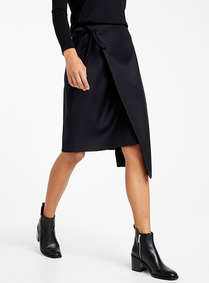 Rei wrap skirt - Elisa C-Rossow - Black