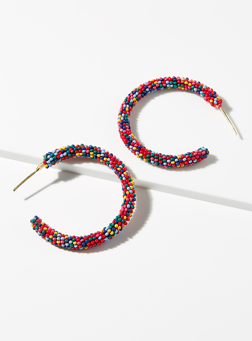 Simons Assorted Sweet bead hoops for women