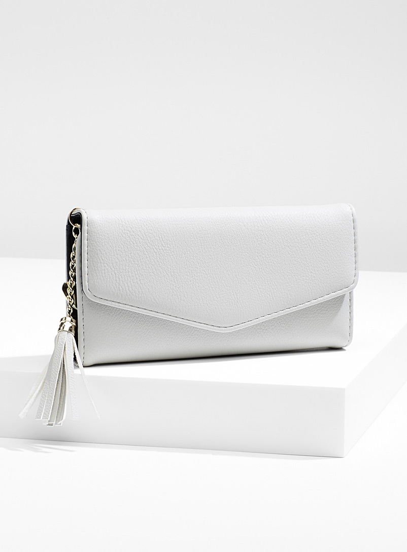 Simons Ivory Tassel envelope wallet for women