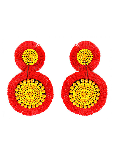 Blooming flower earrings