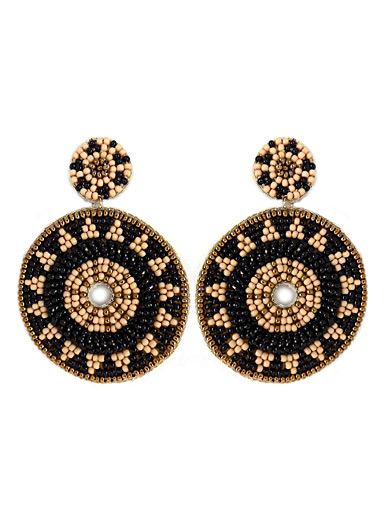 Golden mandala earrings
