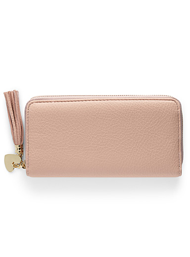 Tassel and charm wallet