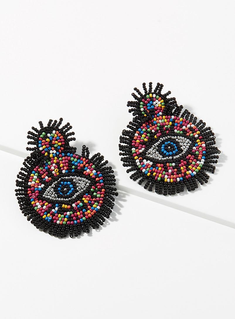Simons Assorted Fringe eye earrings for women