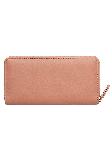 Matte faux-leather wallet