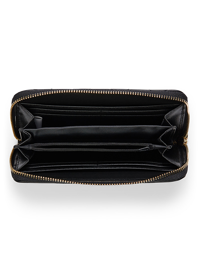 Smooth faux-leather wallet - Wallets - Black