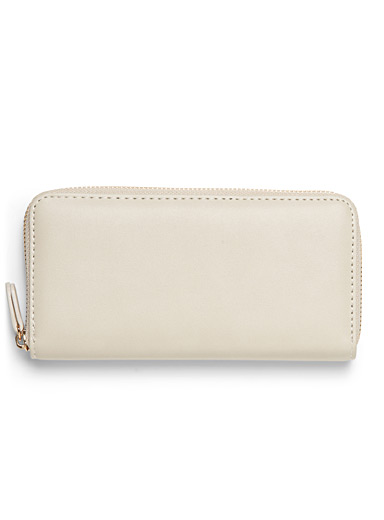 Smooth faux-leather wallet