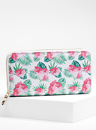 Exotic foliage wallet