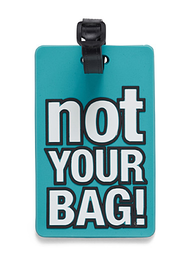 Fun luggage tag