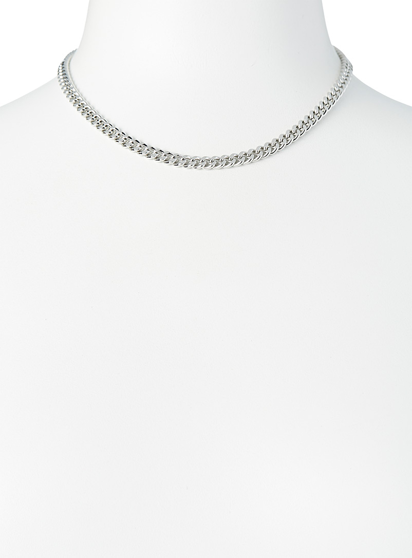 Simons Gold Curb-link chain necklace for women
