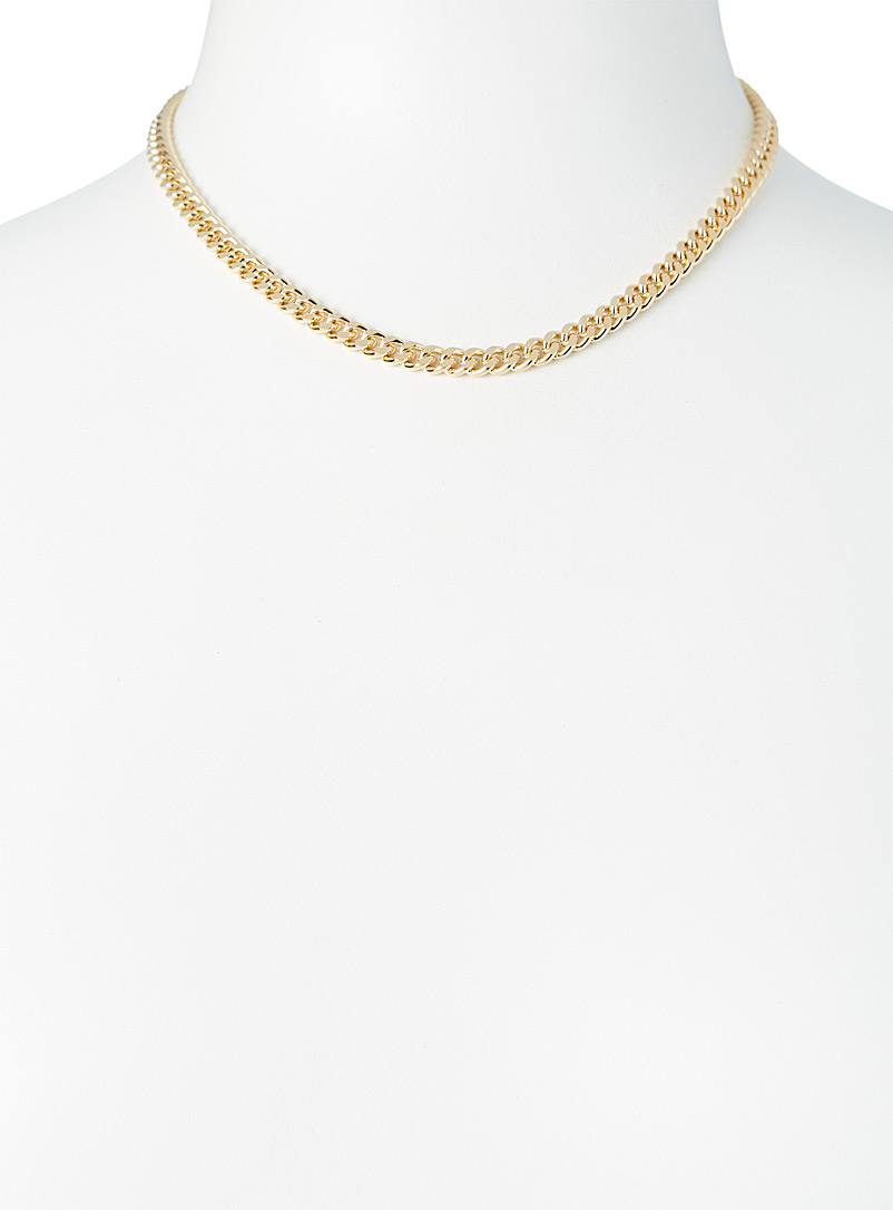 Simons Silver Curb-link chain necklace for women