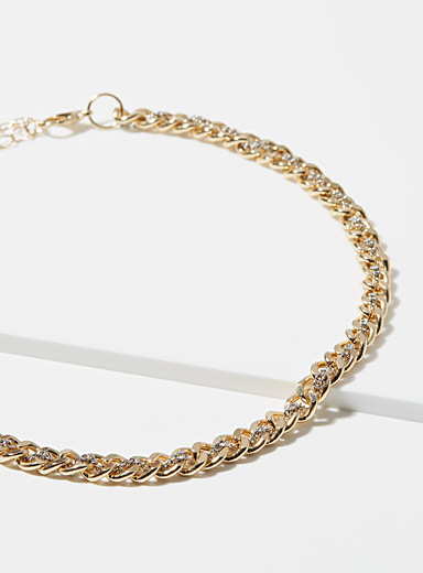 Interlaced chain necklace