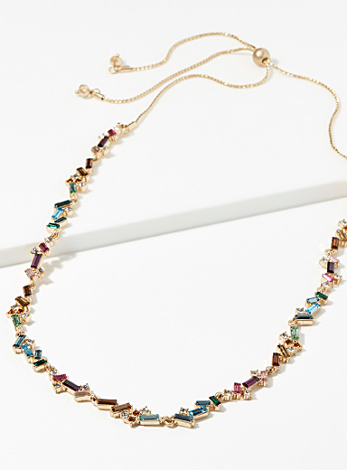 Le collier pierres arc-en-ciel