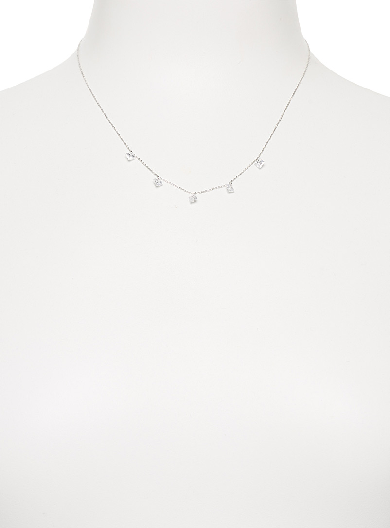 Shimmery prism necklace - Necklaces - Silver