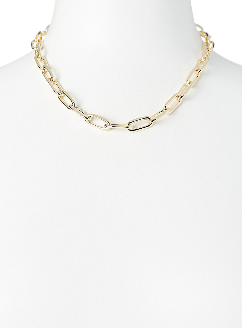 Simons Silver Chunky-link necklace for women