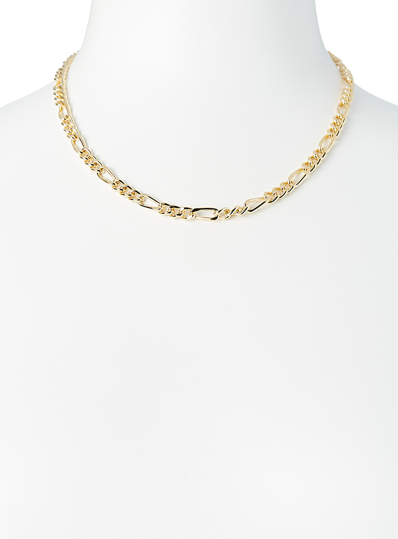 Simons: Le collier mailles figaro Or pour femme