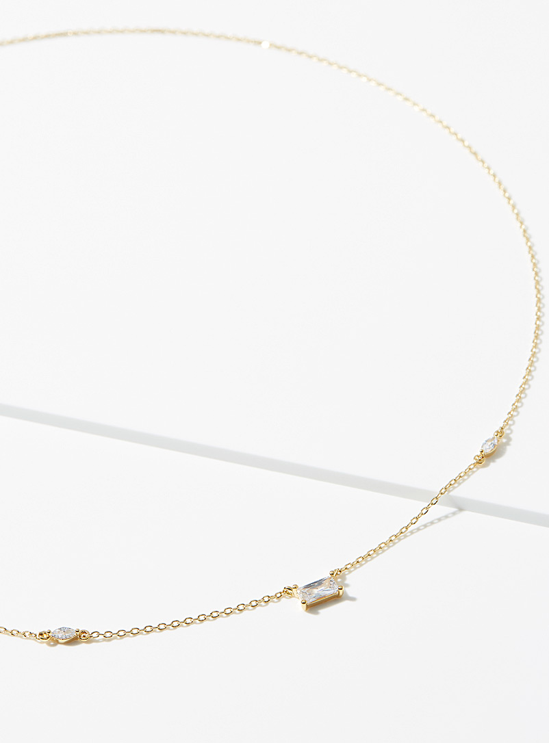 Simons Assorted Crystal trio chain necklace for women