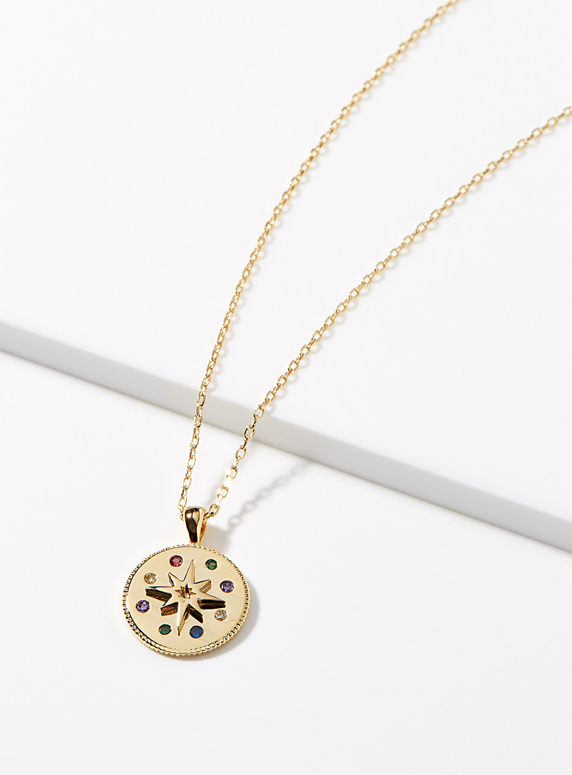 Starry medal necklace