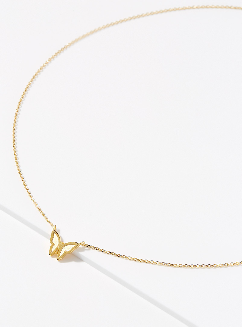 Simons Assorted Butterfly silhouette necklace for women