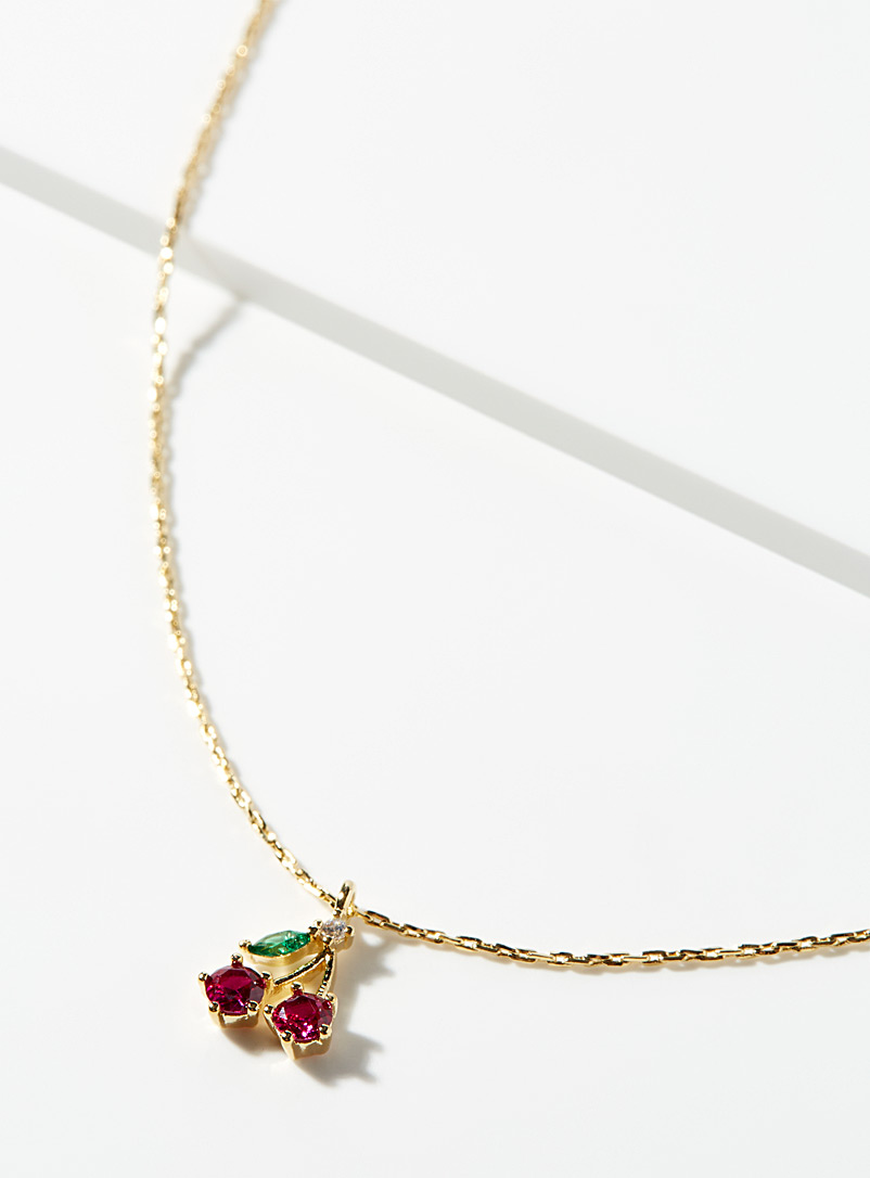 Simons Assorted Sweet cherry necklace for women