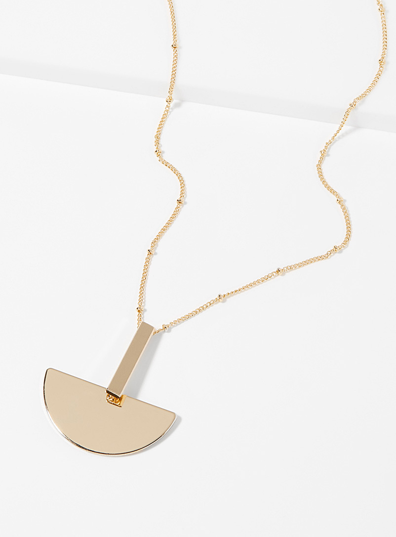 Abstract geo pendant necklace - Necklaces - Assorted