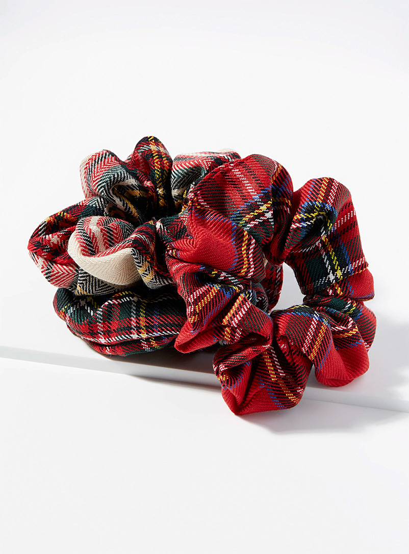 Check scrunchies Set of 3