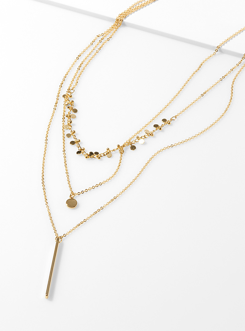 golden-disc-multi-strand-necklace