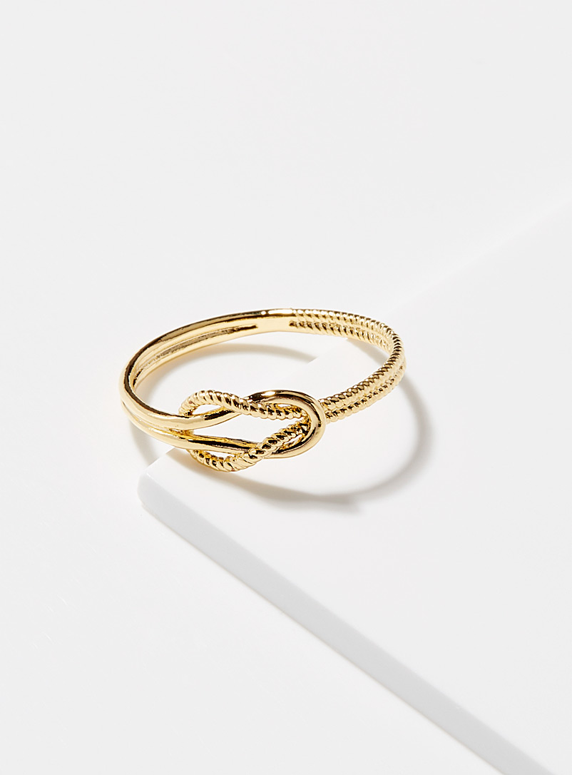 Simons Assorted Interlaced knot ring for women