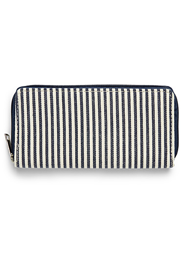 Nautical stripe wallet