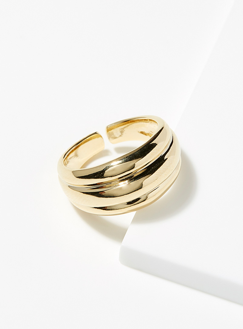 Simons Gold Triple ring for women