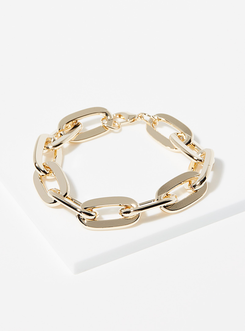 Simons Gold Giant oval link bracelet for women