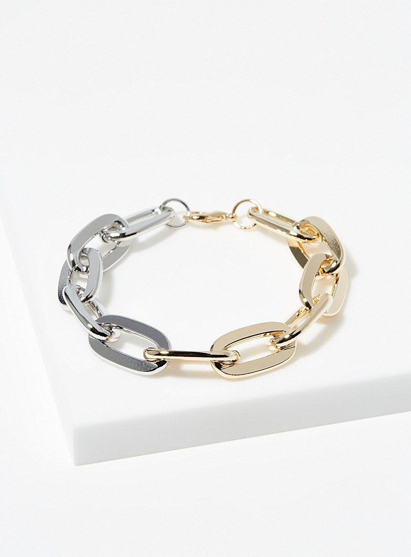 Simons Assorted Two-tone curb-link bracelet for women