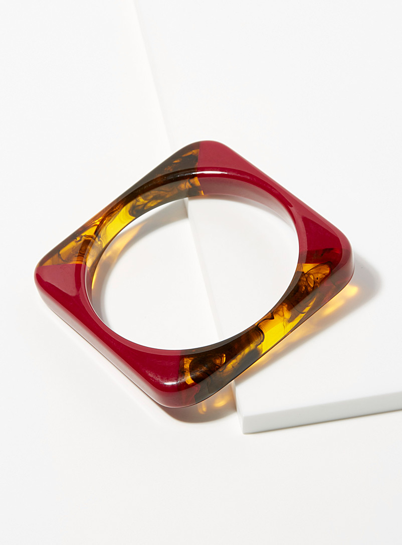Simons Assorted red Marbled retro cuff for women