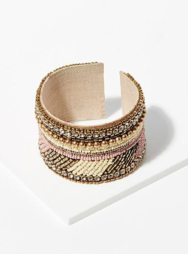 Simons Sand Bright bronze cuff bracelet for women