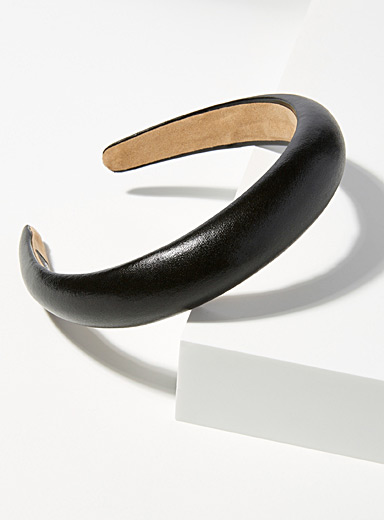Simons Black Shimmery headband for women