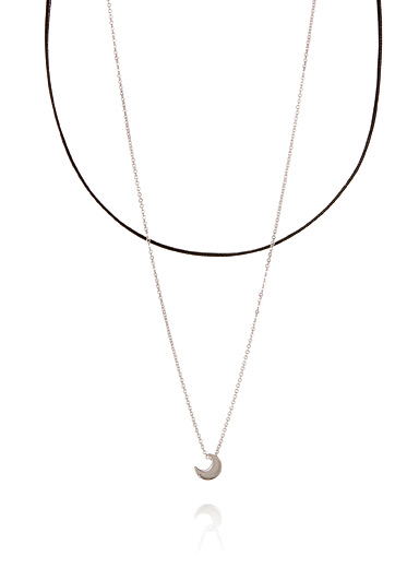 Quarter moon necklet