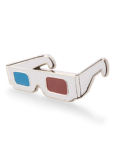 3D sunglasses pin