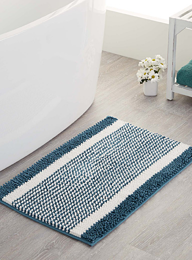 Colour block chenille bath mat  50 x 80 cm