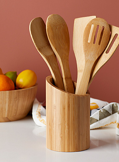 Bamboo utensil-holder