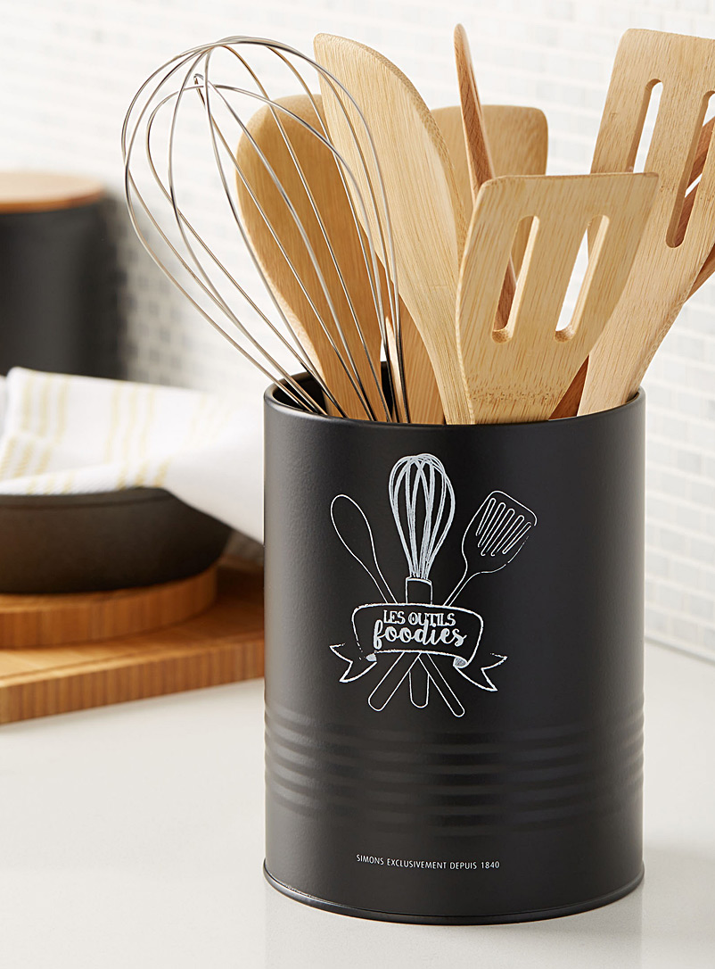 Les outils foodies canister - Cooking Utensils & Containers - Black