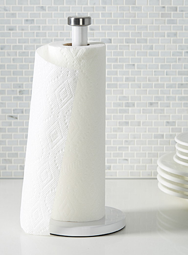 Pure white all-purpose towel holder