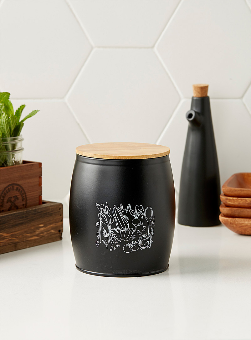 Vegetable soup jar - Cooking Utensils & Containers - Black and White
