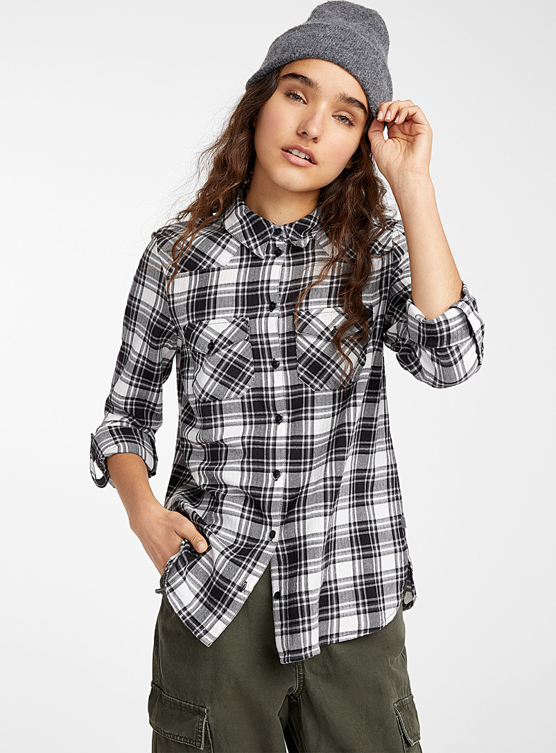 Adventure flannel shirt - Shirts - Black and White