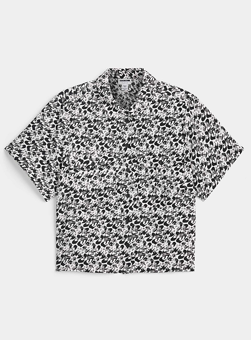 Noisy May Patterned White Abstract print shirt for women