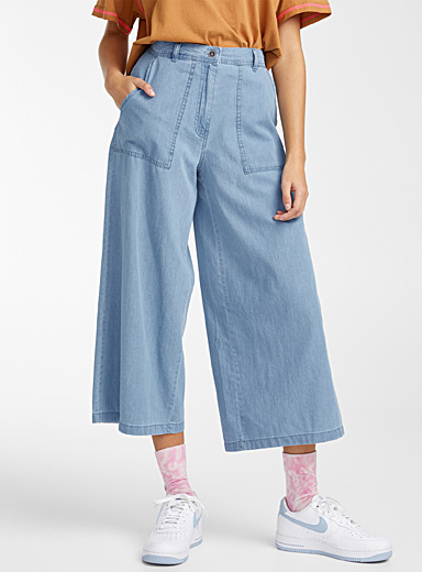 Loose denim carpenter pant