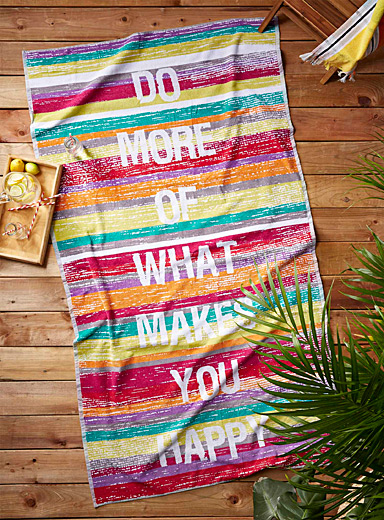 The secret to happiness beach towel  100 x 180 cm