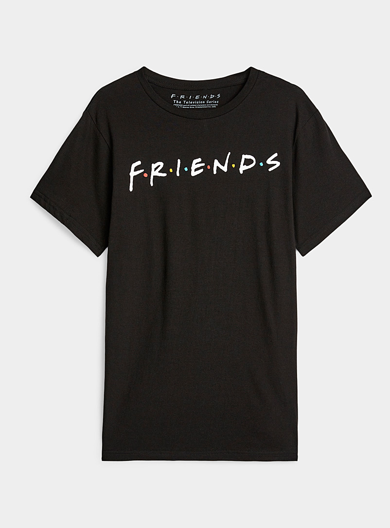 Friends t-shirt - Short Sleeves & ¾ Sleeves - Black